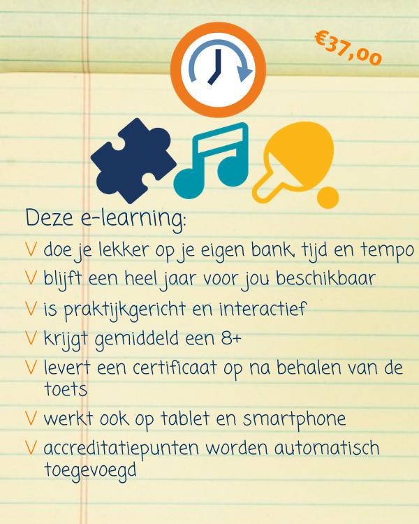 E-learning Activiteiten organiseren zorgvragers