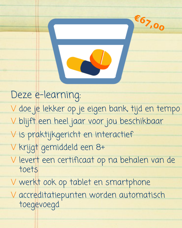 E-learning Medicatie aanreiken en toedienen