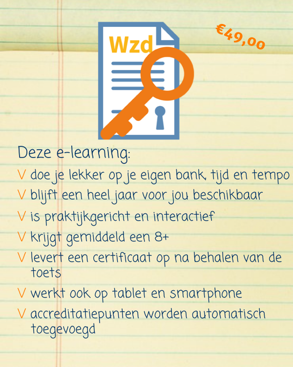 E-learning Wet zorg en dwang