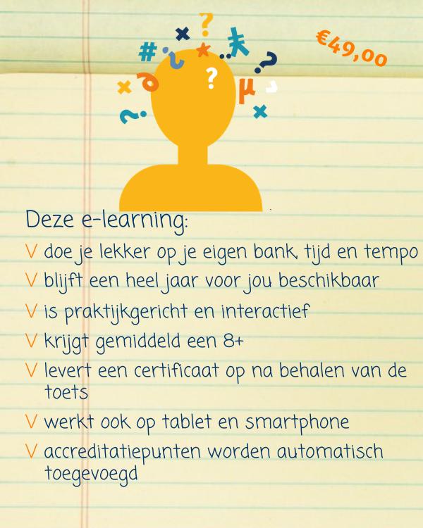 e-learning omgaan met delier