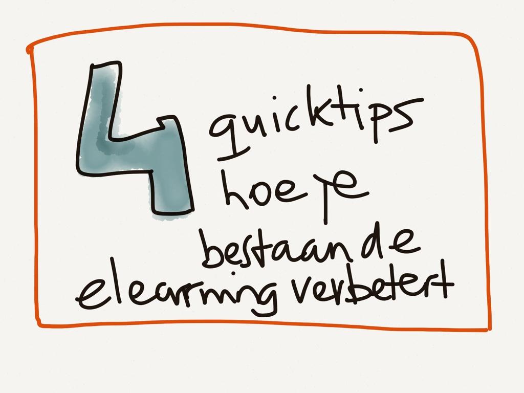 4 instant manieren om bestaande e-learning te verbeteren